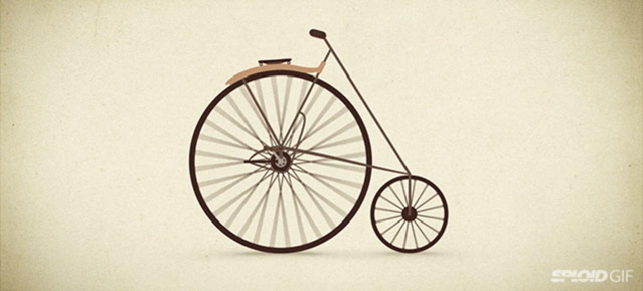 アニメーションで見る自転車の発展