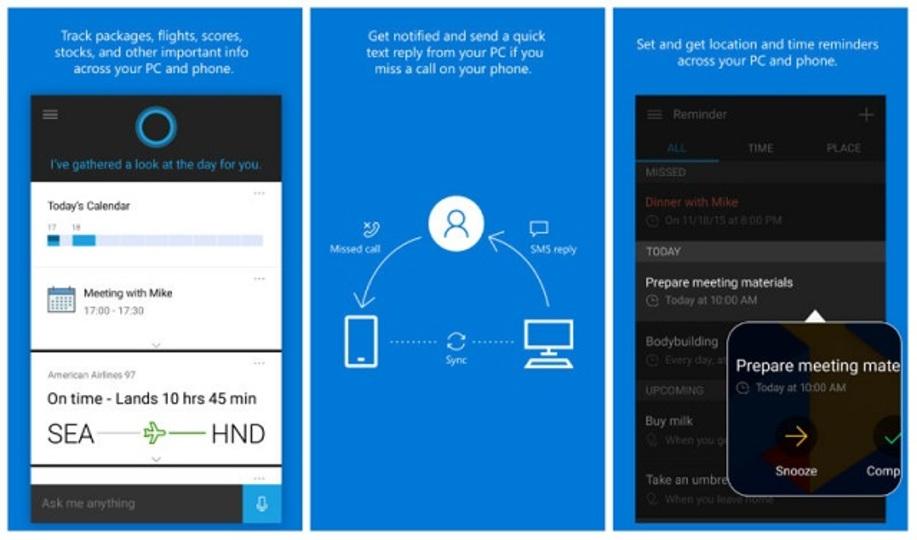 Cortana、ついにAndroidとiOSへ登場