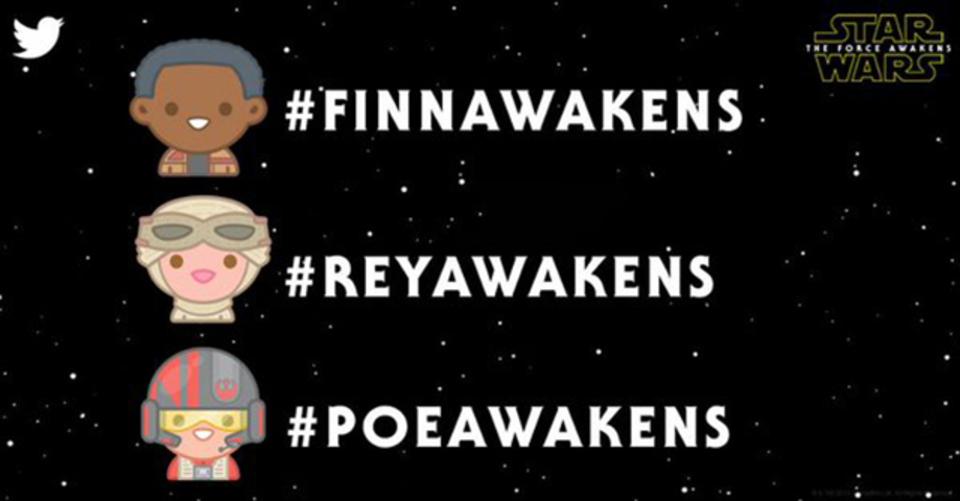 君は誰を選ぶ? 「フォースの覚醒」のTwitter絵文字が3種登場だ!