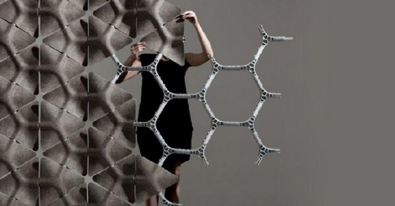 パズルみたいに自分で組み立てる吸音素材の壁「Scale」