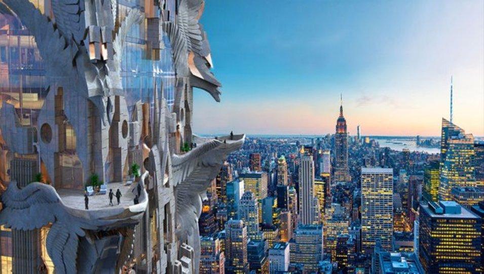 ニューヨークの超高層ビル群に突如アールデコ調の建物が出現!?