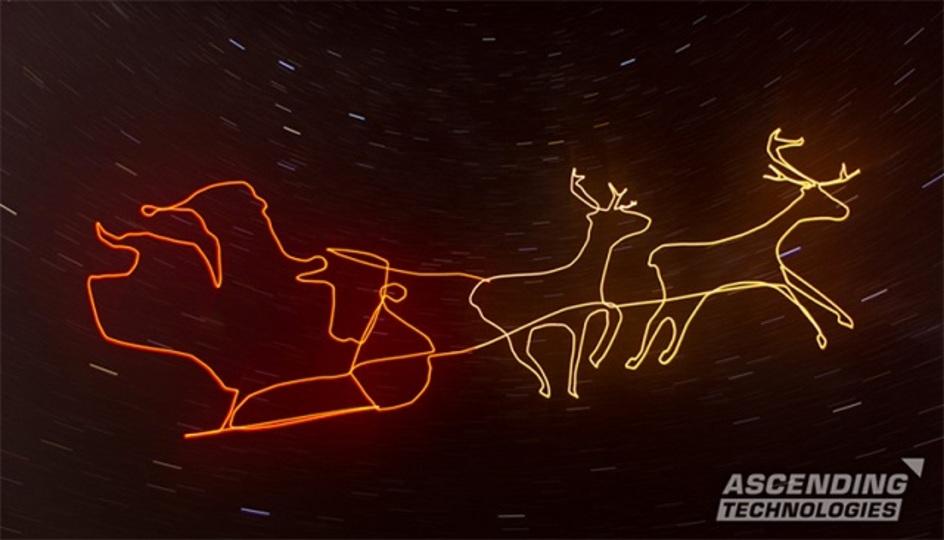 ドローンが 夜空に描く クリスマス