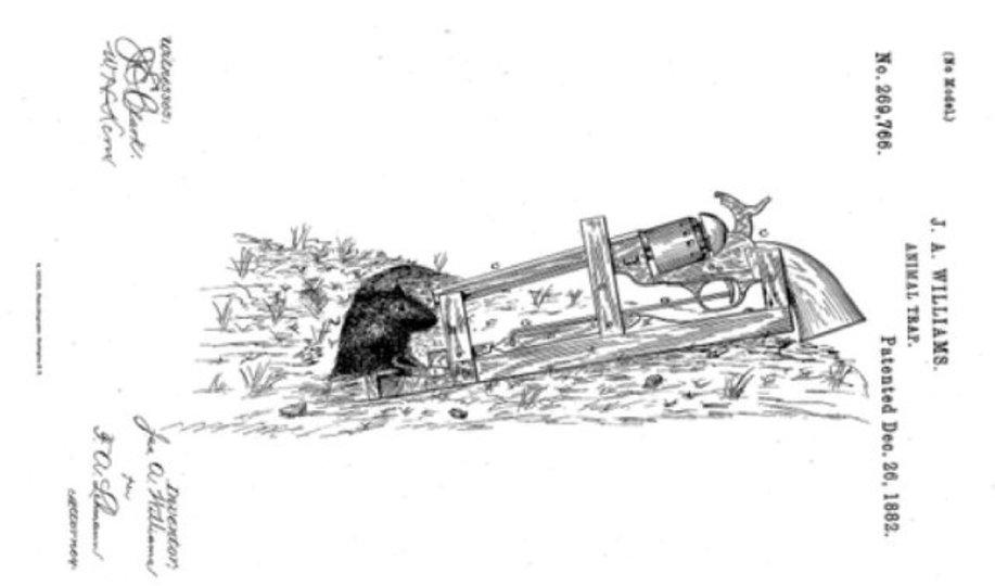 度を超してる! 1882年のネズミ捕りは50口径の銃を装備