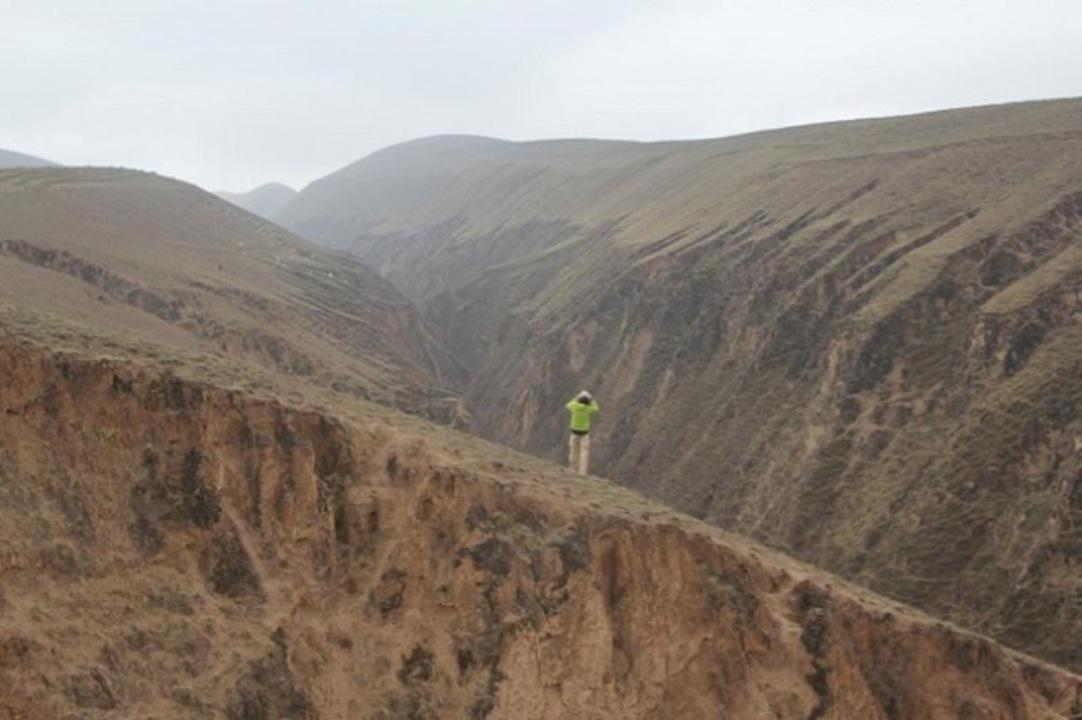 高原で風に吹かれていたら、風が高原を動かしていることに気付きました