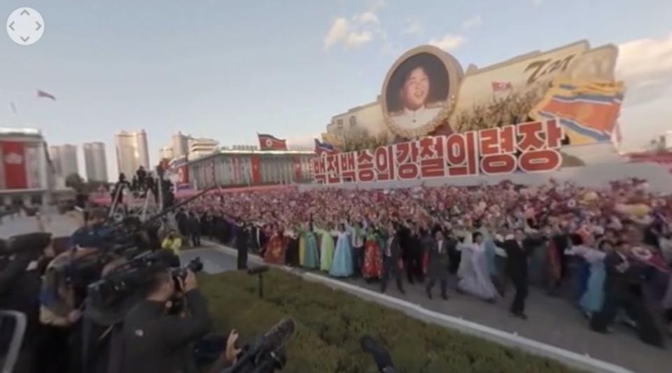 北朝鮮の軍事パレードを360°動画で見てみよう