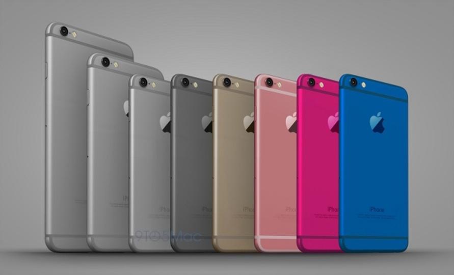 iPhone 6cはこうなる? 6色のカラフルなモック画像が登場