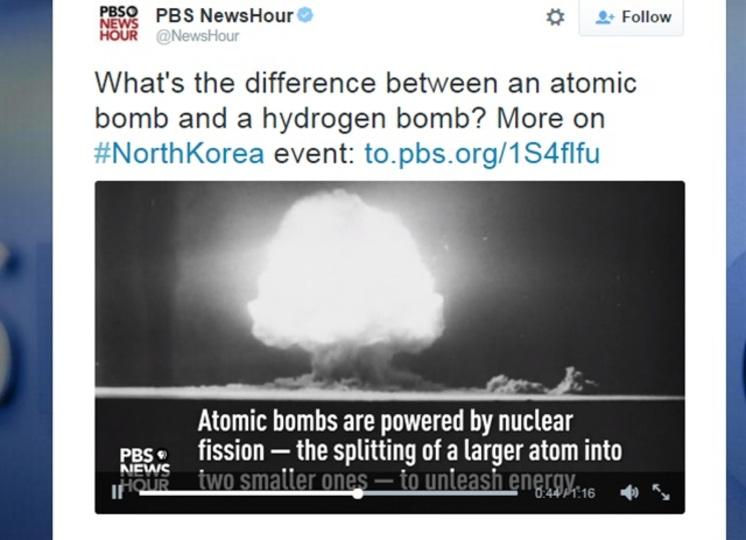 北朝鮮の水爆実験、水爆にしては弱過ぎる模様