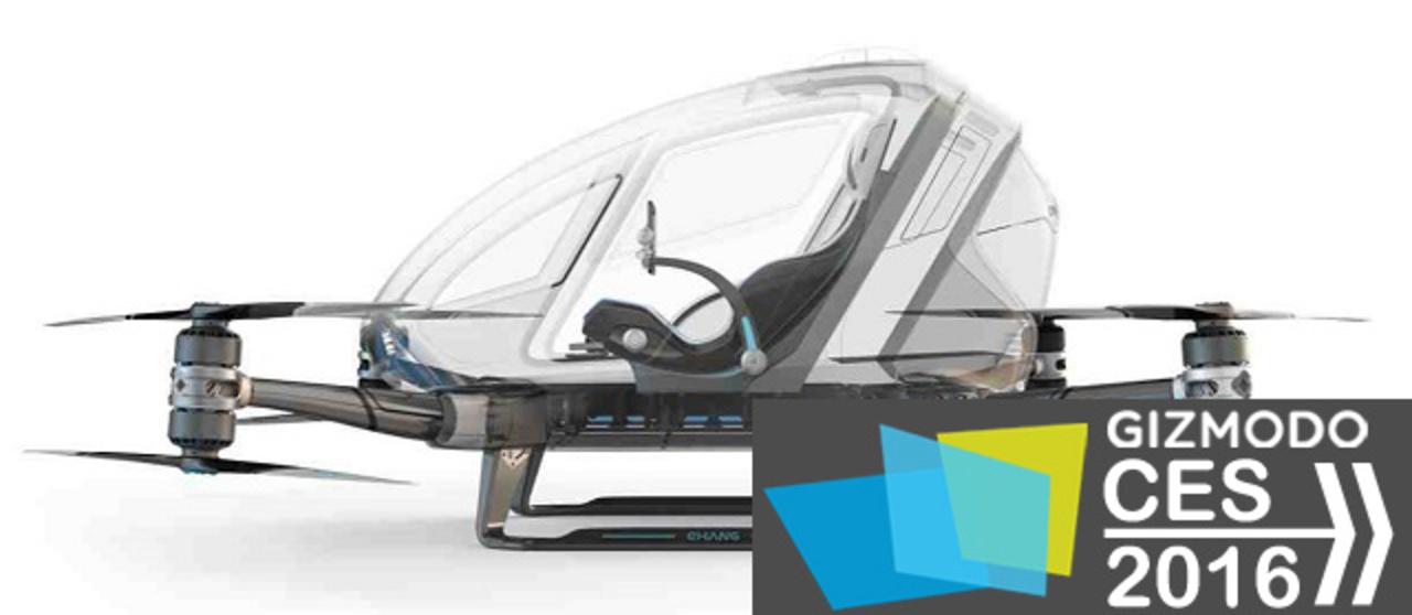 人を乗せて自動飛行するドローン、まさかの商品化を発表