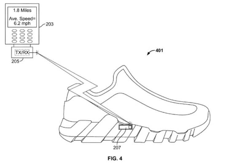 ナイキの新特許、FuelBandはスニーカーに内蔵? デザインもより柔軟に
