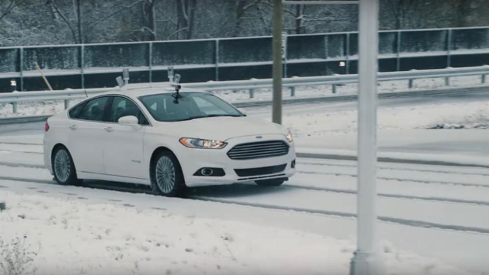フォードの自動運転車、雪の中でもへっちゃら