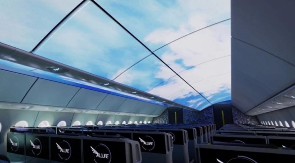 まるでオープンカー! あらゆる所にディスプレイが配置された飛行機のコンセプト