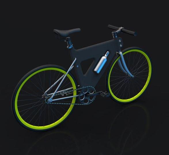 プラモデル感覚で楽しめるプラスチックフレームの自転車