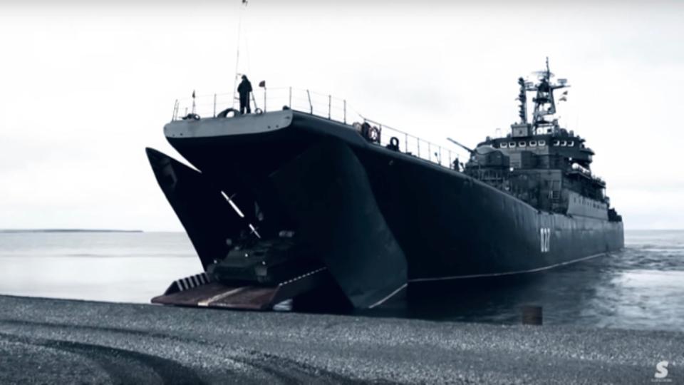 ロシア軍が海から侵入してくるとしたらこんな感じ