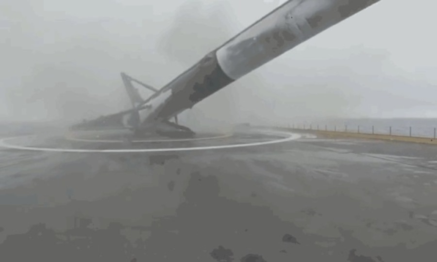 「ドッゴォォォン!」ファルコン9の着陸失敗が予想以上にダイナミック