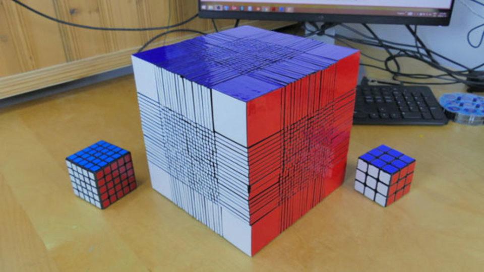 22x22ルービックキューブを解く時間>寿命