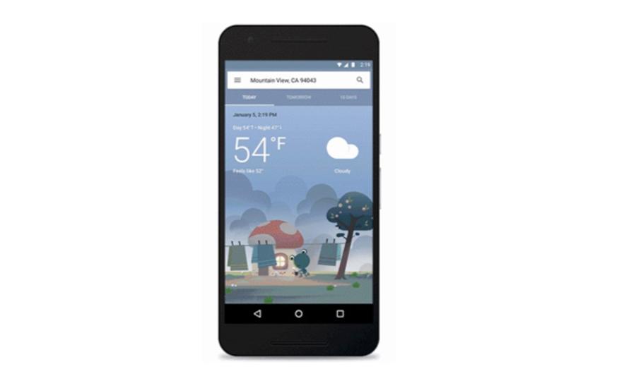 米Googleの天気予報アプリがアップデートで一気に可愛くなってこれは良い