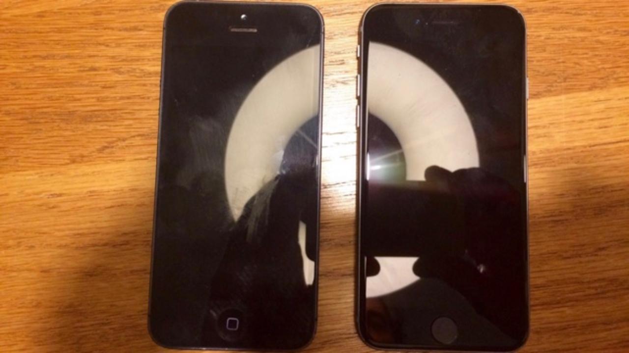 これが噂のiPhone 5seかもね? iPhone 5との比較写真がリーク