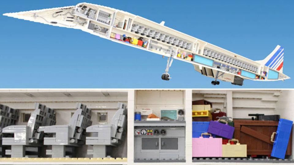 飛行機ってこうなってんだ! レゴ6万5000ピースで見るコンコルド断面図