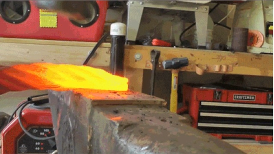 スチールワイヤーロープからナイフを作る