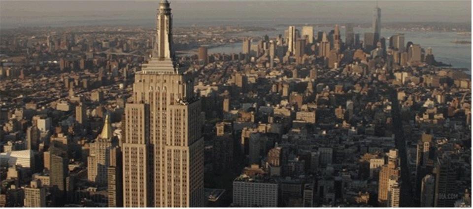 これはかっこいい!上空から見たニューヨークの動画