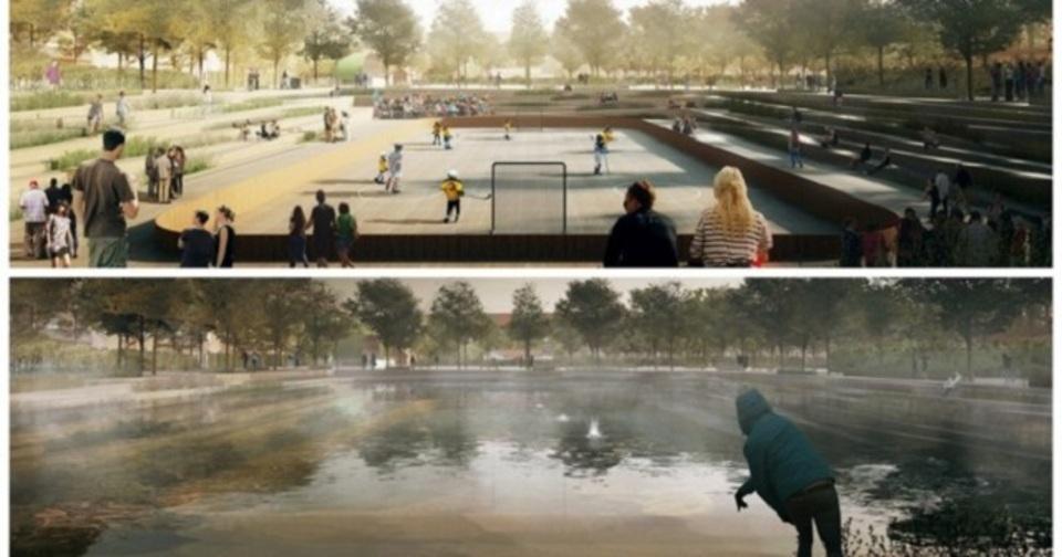 コペンハーゲンでは洪水を避けるため、貯水池にもなる広場を建設中