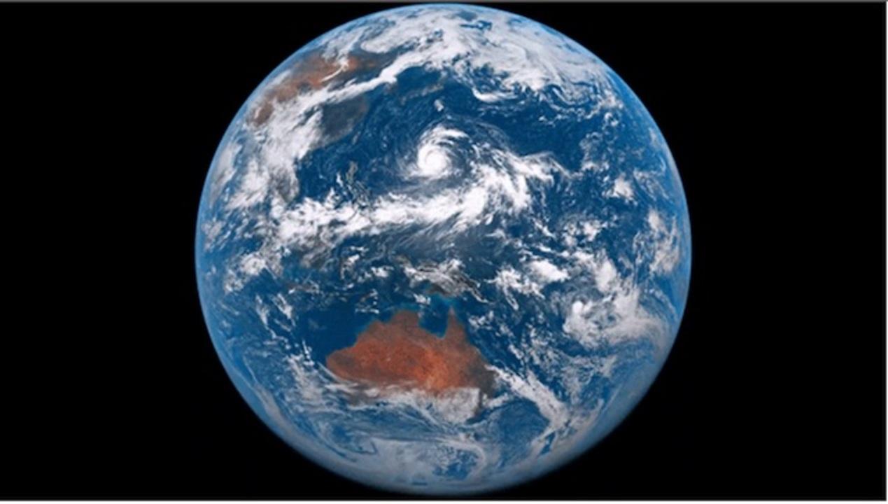 宇宙から見た地球の一日を12秒で