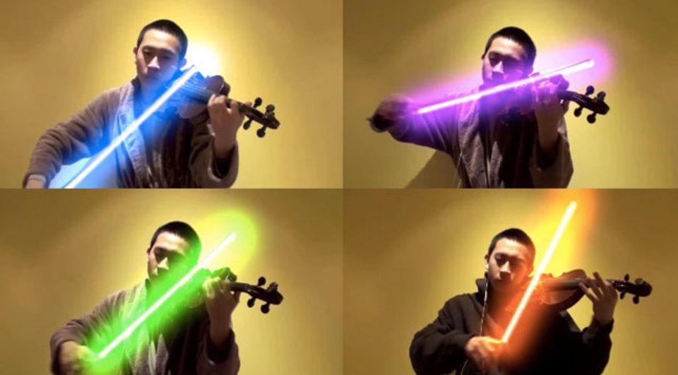 それでは聞いてください。フォースの力で弾くバイオリン曲「フォースのテーマ」