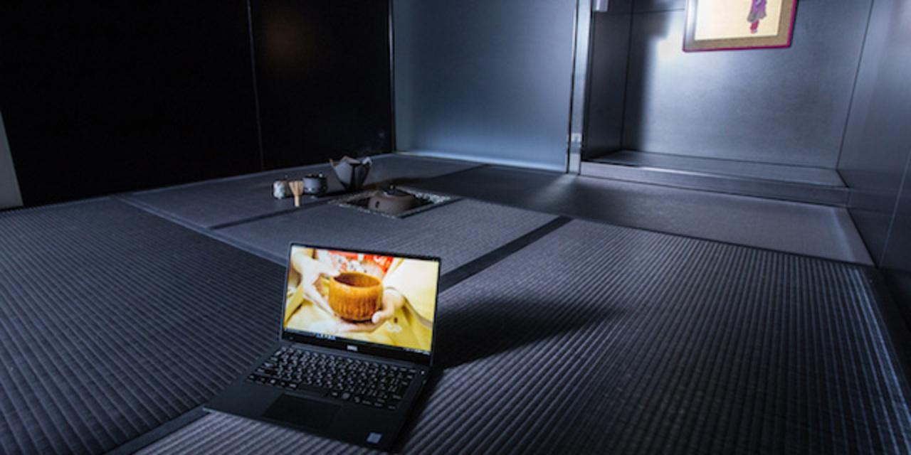 モダンな茶室とノートPCがこんなに合うとは。デル「XPS 13」と茶の湯を楽しむ
