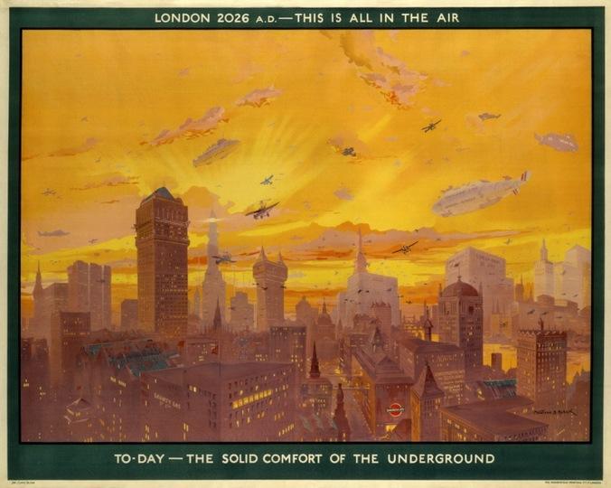 未来を予測している? 90年前に描かれたロンドンのポスターがすごい