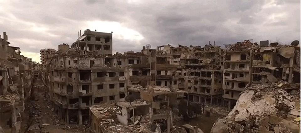 街全体が廃墟に。シリアの「今」をドローンで撮影
