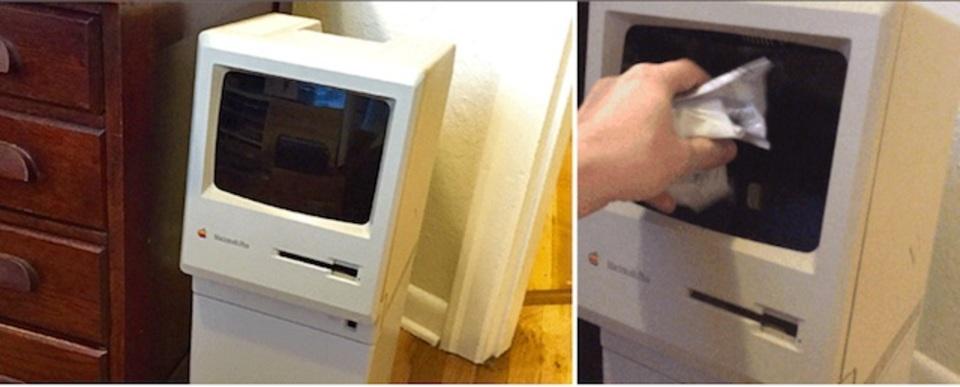 1986年型Macintosh Plusをゴミ箱に変えちゃった