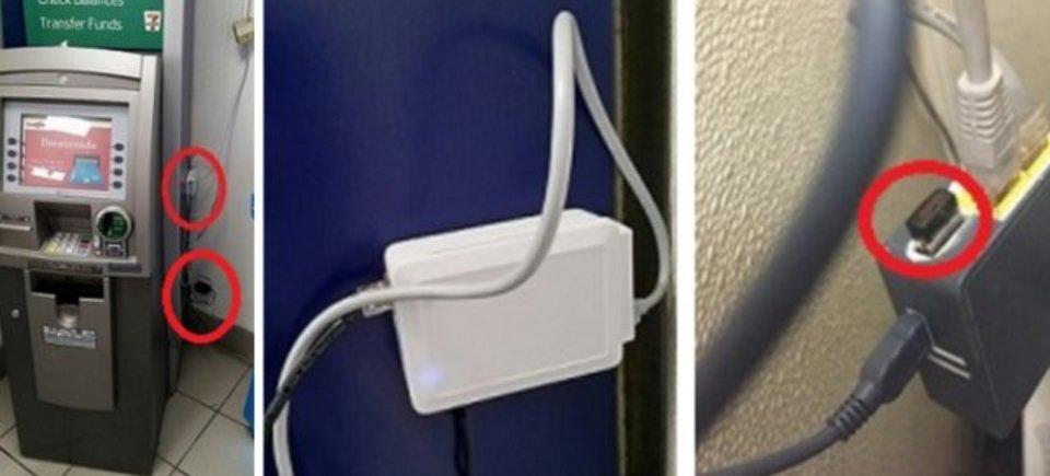 注意! ATMのネットワークケーブルにデバイスを差し込むだけで情報が読み取れてしまうようです