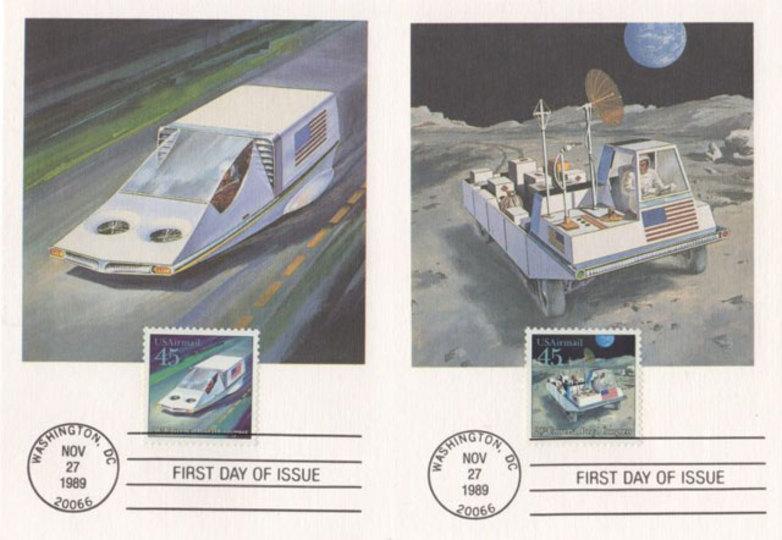 1989年のアメリカの切手に描かれ...