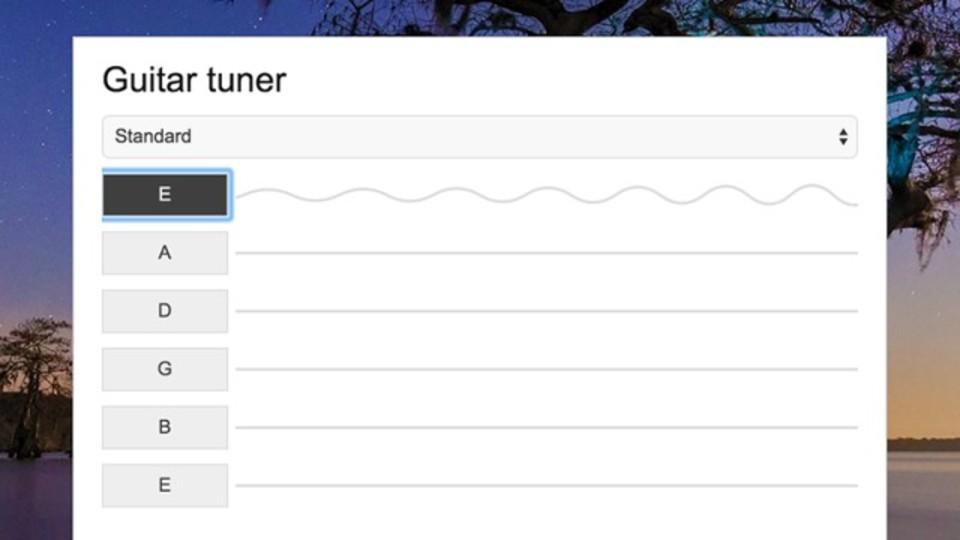 Bing検索エンジンならギターのチューニングもできる