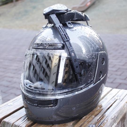 ヘルメットワイパー、繰り返す、ヘルメットワイパー