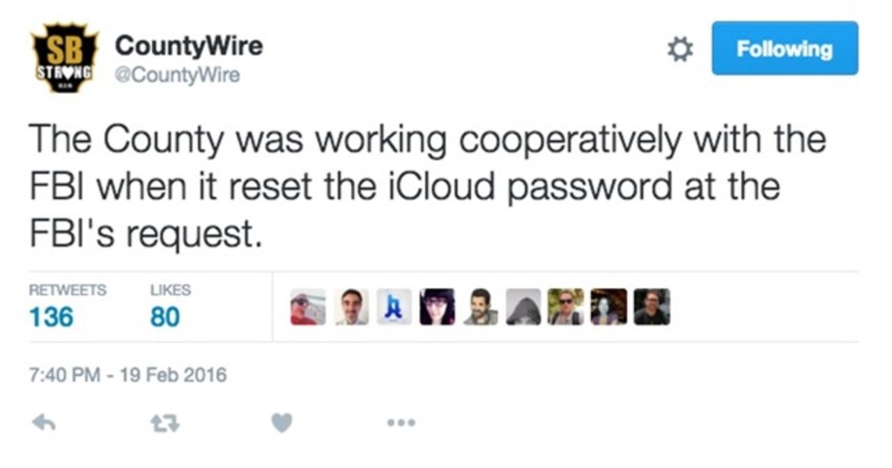 当局がパスコード変更しなければこうはならなかった。アップルがFBIに反論