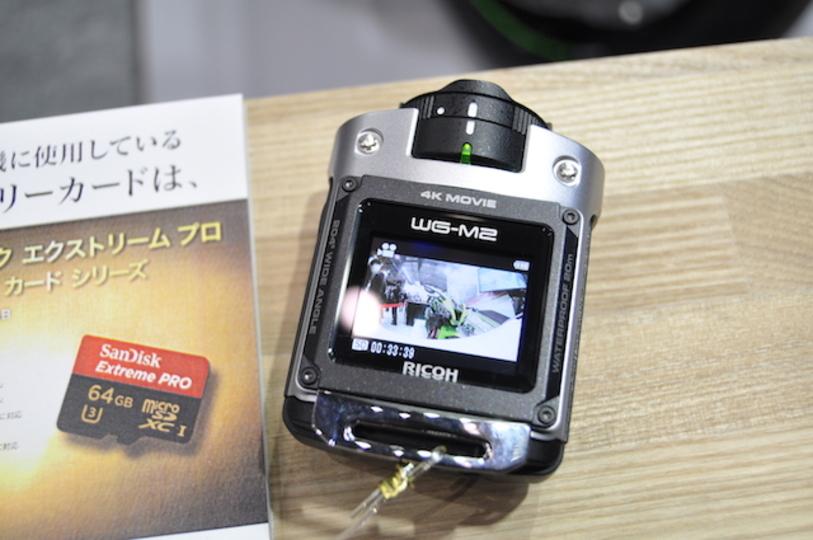 4K対応。リコーのアクションカメラ、WG-M2は小さくて超頑丈
