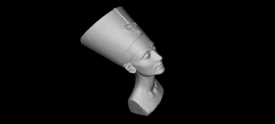 ネフェルティティの胸像、美術館が知らないうちに3Dスキャンされデータが公開される