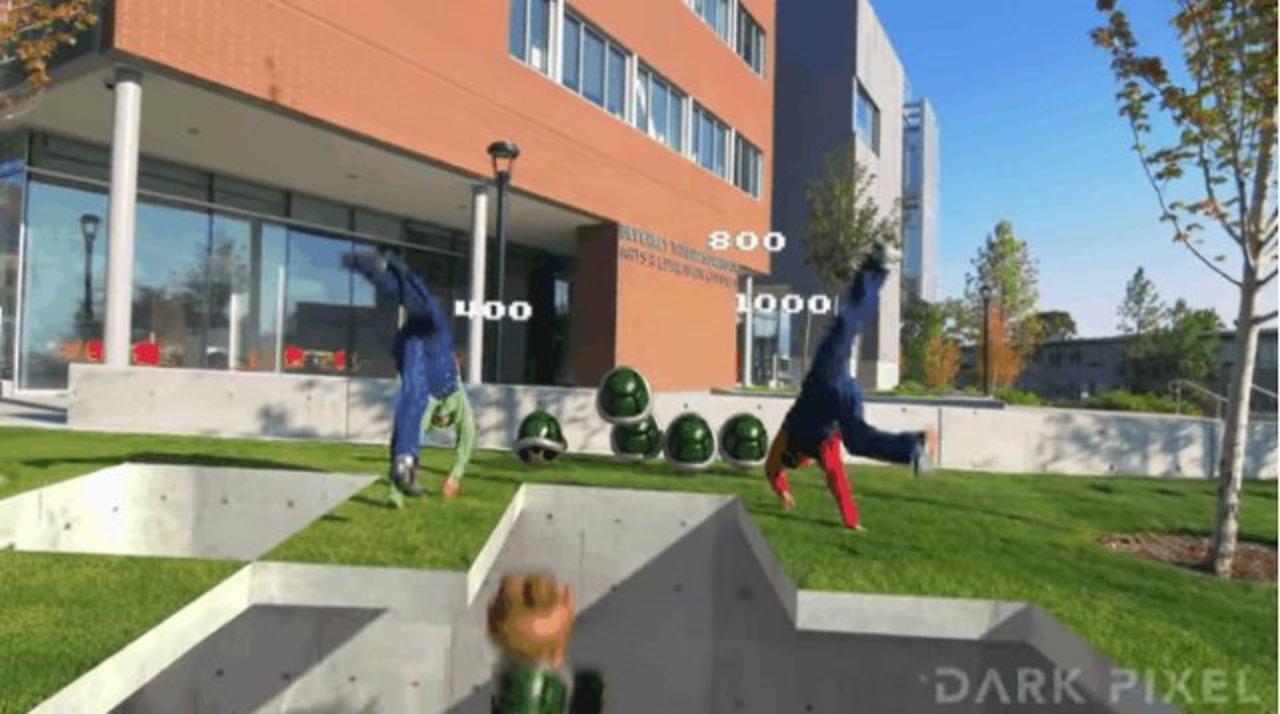 スーパーマリオブラザーズが現実世界にやって来た!