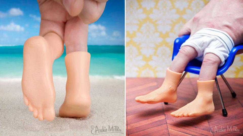 くだらないからこそ天才的な何かが! 手の指につける足のオモチャ