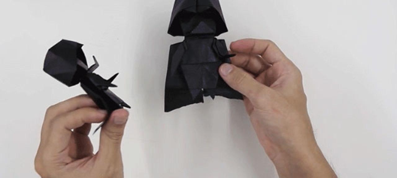 折り紙で作るダース・ベイダー(制作時間45分)