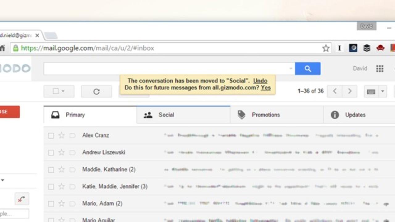 Gmailの受信トレイをドラッグ&ドロップで簡単整理