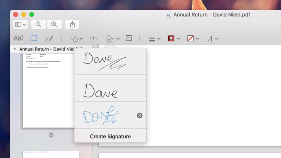 Macのプレビューでメールにつける直筆サインを作れるって