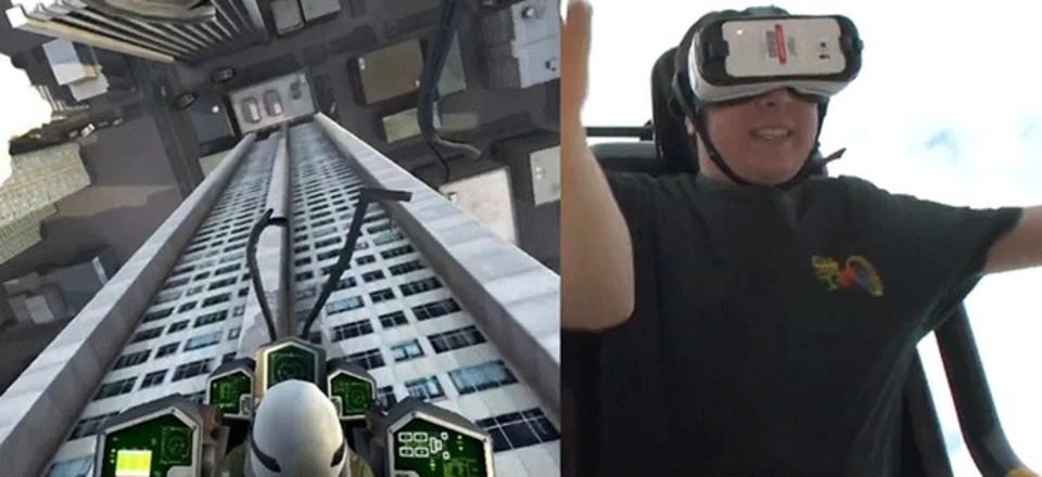視覚はヴァーチャル、体はリアル。VRヘッドセットでジェットコースターに乗ろう