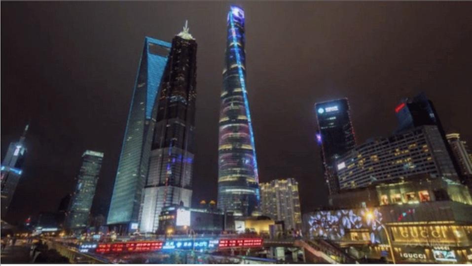 上海のビル建設の様子を映し続けたタイムラプスが美しい