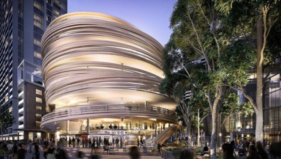 ...蕎麦かな?シドニーのユニークなデザインの新図書館、何に見えますか