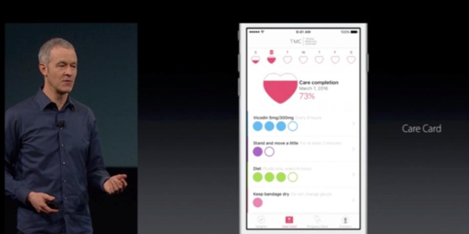 アップル、「CareKit」発表。最初のアプリはパーキンソン病の患者が対象