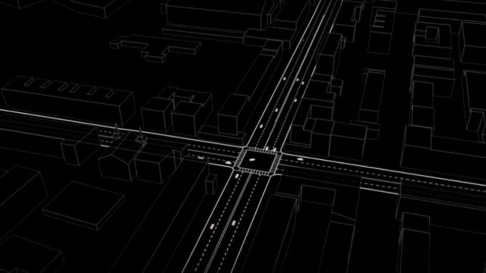 全ての自動運転車が最適な速度かつタイミングで交差点に入れば信号もいらなくなる