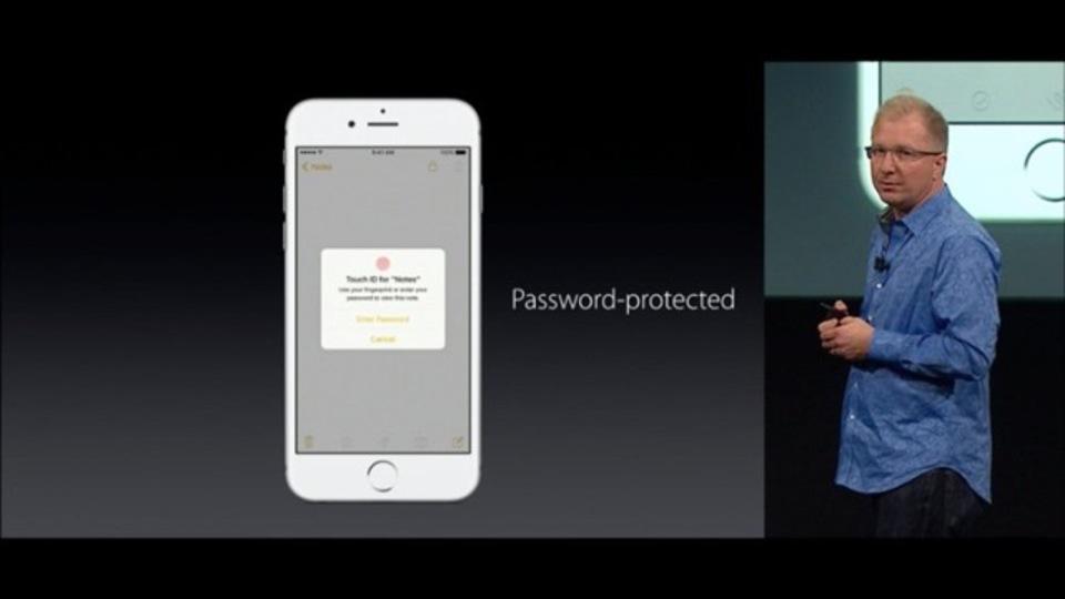 iOS 9.3の新機能、メモ帳のロック機能を解説します
