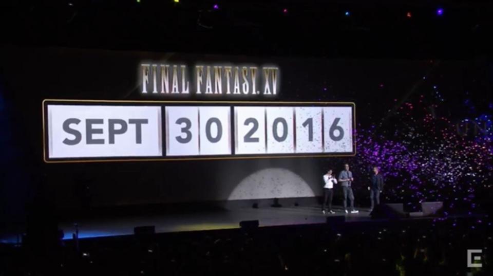 FINAL FANTASY XVの発売日が遂に決定。2016年9月30日に発売へ